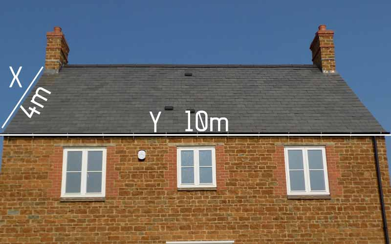 Roof measurement calculator image titled calculate roof for Buy cupola