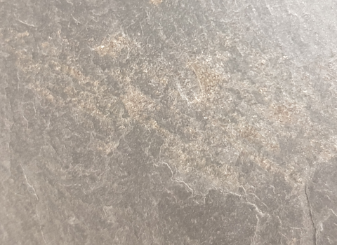 unstable pyrite inclusion in roofing slate